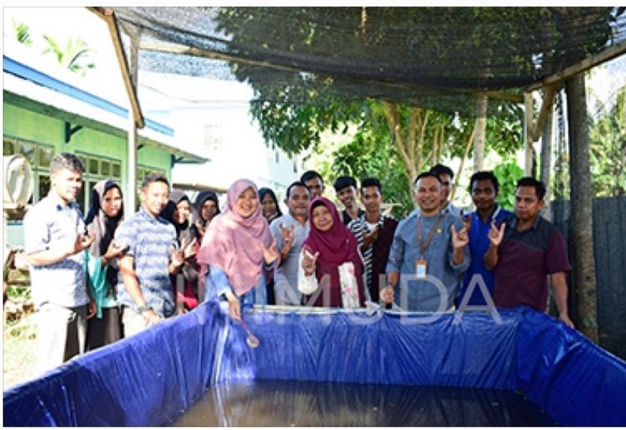 Mahasiswa Prodi Akuakultur UNIMUDA Sorong Tebar 525 Bibit Ikan Lele