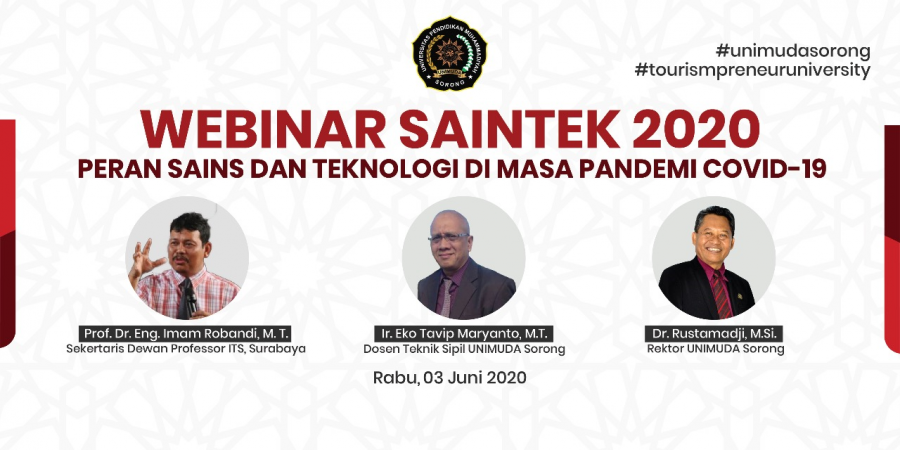 Meraup Beneficial Knowledge di WEBINAR SAINTEK 2020 UNIMUDA SORONG